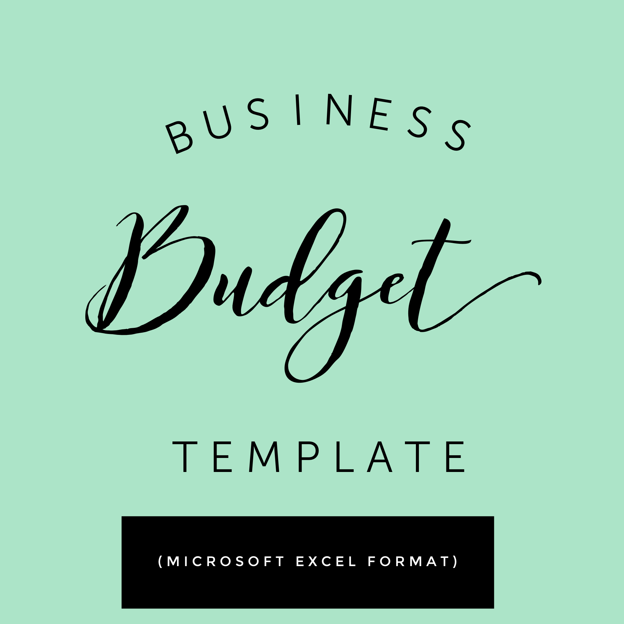 business budget template the caffeinated woman