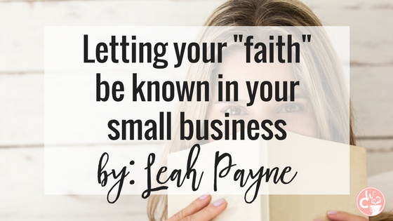 Leah Payne is a photographer, but most importantly... a Christian. I asked her to share about how her faith has impacted her business. Read more on the blog.
